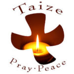 Taize Pray Peace symbol with candle